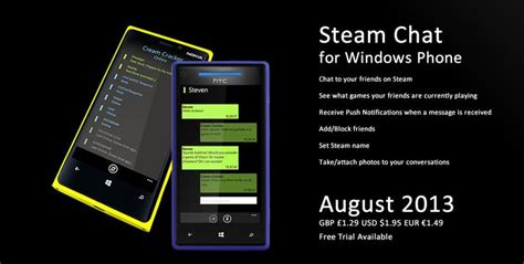 NOKIANEWS - Steam Chat - Chat application on Windows Phone