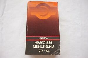 1973 Hungary Hungarian Railway Train Timetable Hivatalos