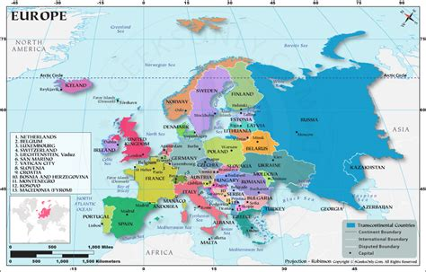 European Countries, How Many Countries in Europe, Europe