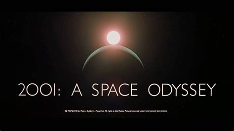 This is how the opening to 2001: A Space Odyssey was