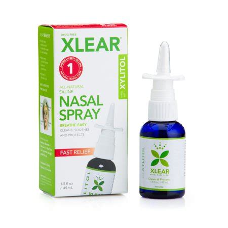 Xlear All Natural Saline Nasal Spray, 1