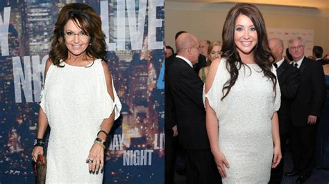 Sarah Palin Borrows Her Daughter Bristol's Dress to Go to